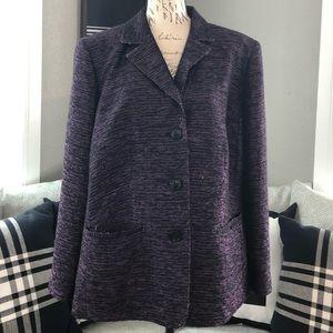 Lafayette 148 Violet Purple and Pink Tweed Blazer